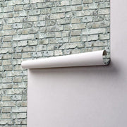 Old Grey Brick Removable Wallpaper-wallpaper-Eazywallz