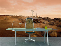 On the surface of Mars Wall Mural-Sci-Fi & Fantasy,Space-Eazywallz