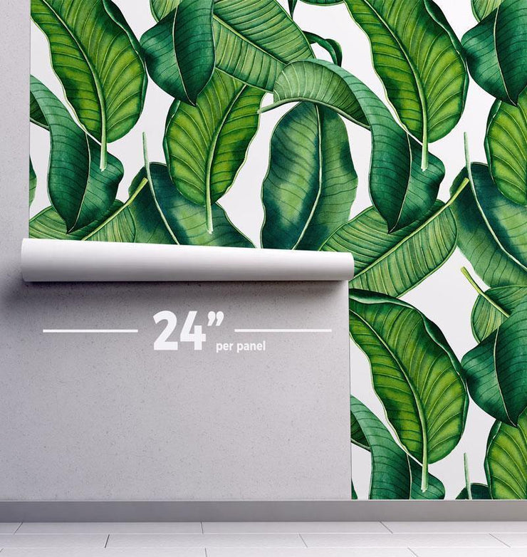 Palm Leaves Removable Wallpaper-wallpaper-Eazywallz