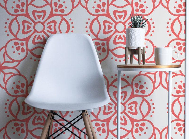 Poppy Boho Removable Wallpaper-wallpaper-Eazywallz