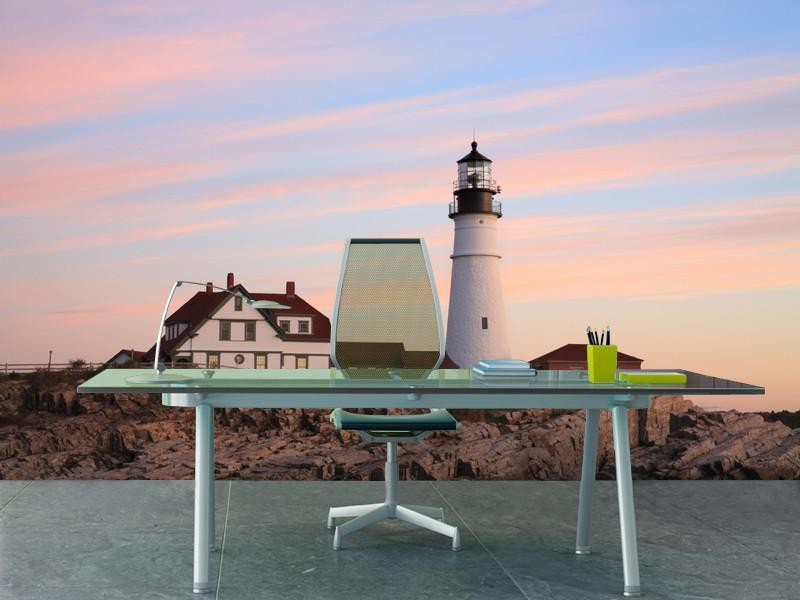 Portland Head Light, USA Wall Mural-Buildings & Landmarks-Eazywallz