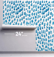 Raining Water Color Removable Wallpaper-wallpaper-Eazywallz