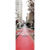 Red Rails in San Francisco Door Mural-Cityscapes-Eazywallz