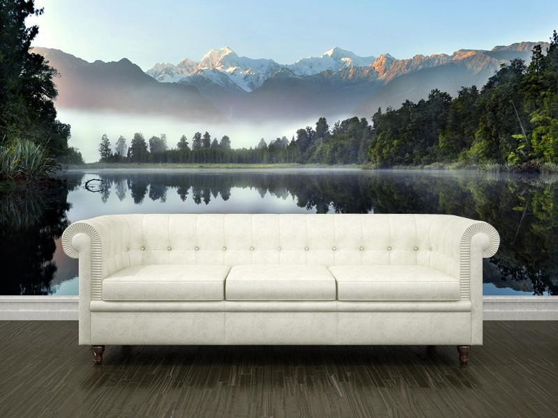 Reflection of Lake Matheson Wall Mural-Landscapes & Nature-Eazywallz