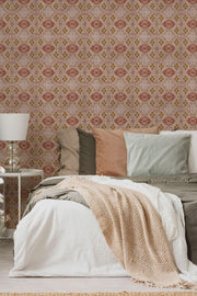 Rose Boho Removable Wallpaper-wallpaper-Eazywallz