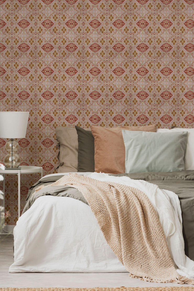 Rose Boho Removable Wallpaper-Wall Mural-Eazywallz