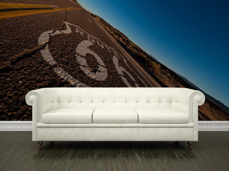 Route 66 at Twilight Wall Mural-Buildings & Landmarks,Landscapes & Nature-Eazywallz