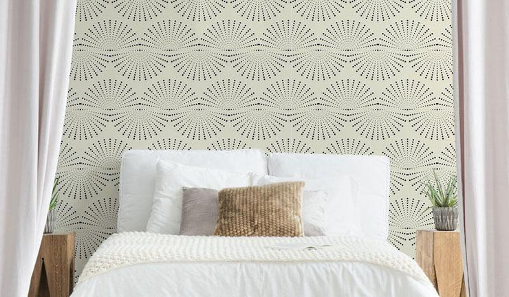 Sentempa Waves Removable Wallpaper-wallpaper-Eazywallz