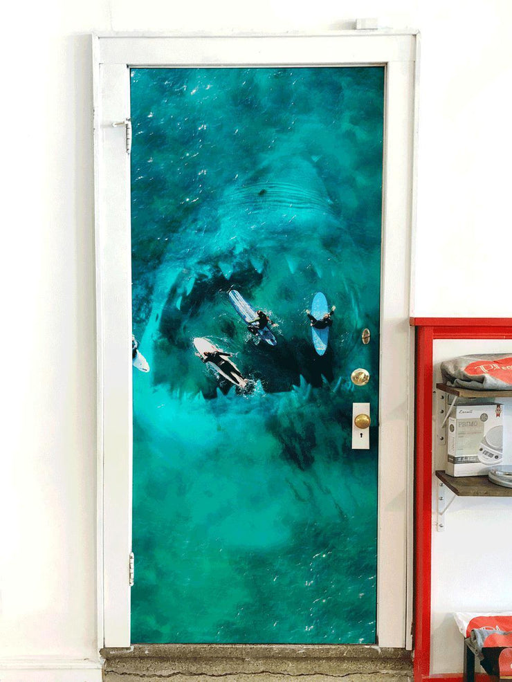 Shark & Surfers Door Mural-Door Mural-Eazywallz