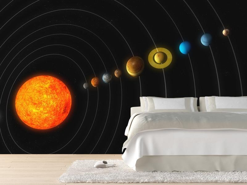 ... Solar System Wall Mural Space Eazywallz ...
