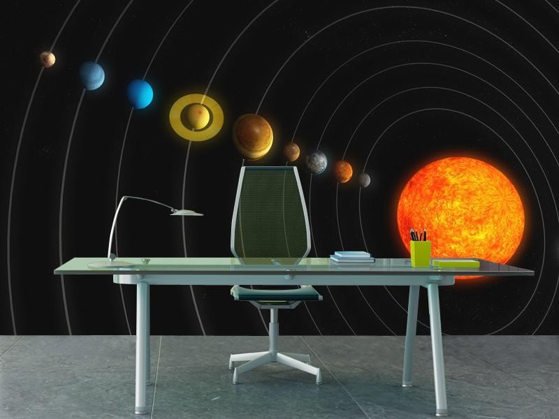 Solar System Wall Mural Space Eazywallz ...