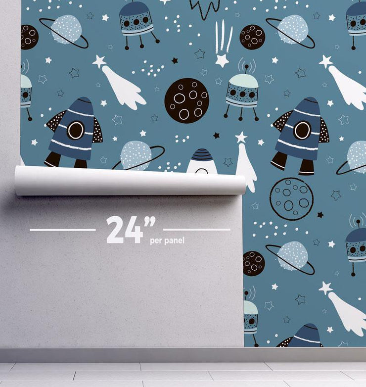 Space Travel Removable Wallpaper-wallpaper-Eazywallz