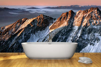 Sunrise in mountains Wall Mural-Landscapes & Nature-Eazywallz