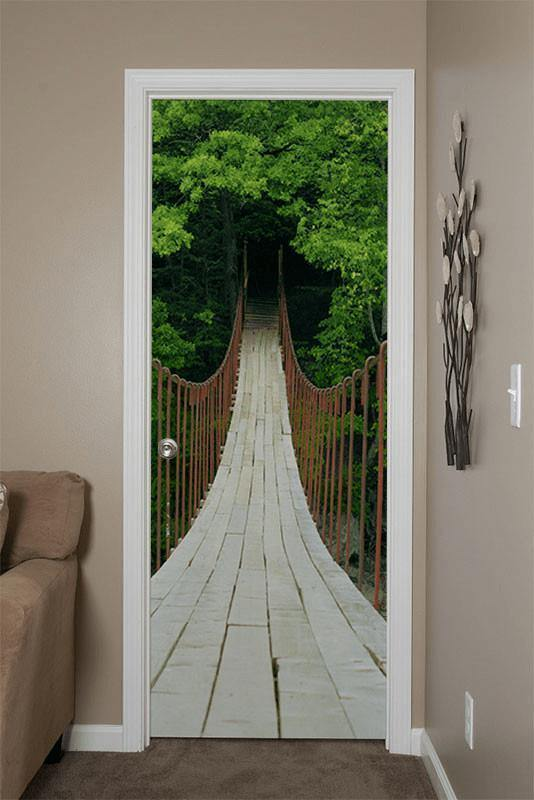 Suspension Bridge Door Mural-Door Mural-Eazywallz