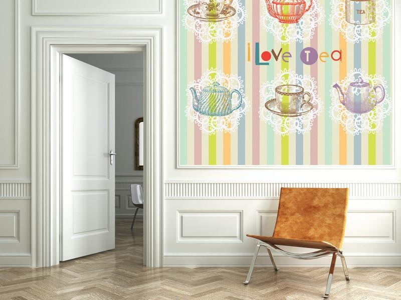 Tea set Wall Mural-Food & Drink,Modern Graphics-Eazywallz