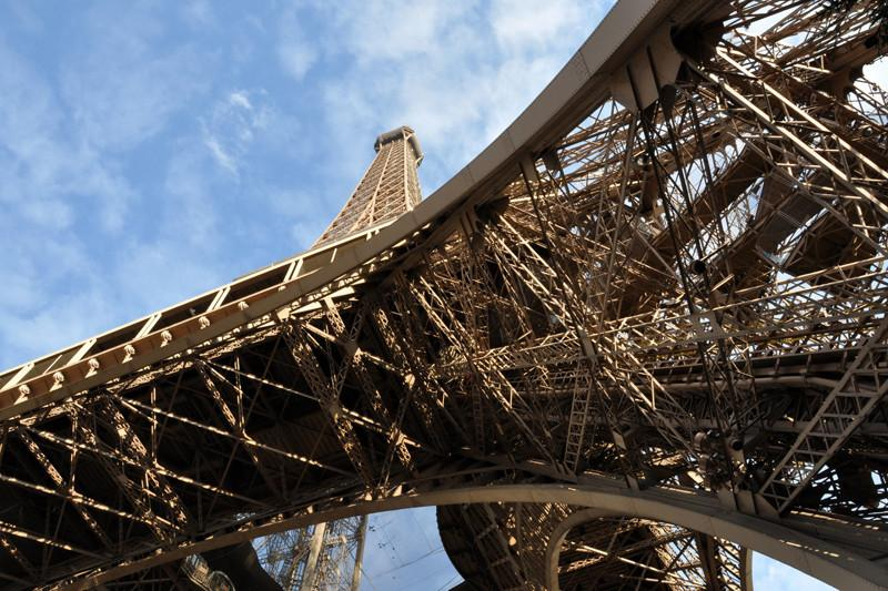 The Eiffel Tower from below, France Wall Mural-Buildings & Landmarks-Eazywallz