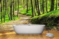 The path in the forest Wall Mural-Landscapes & Nature-Eazywallz