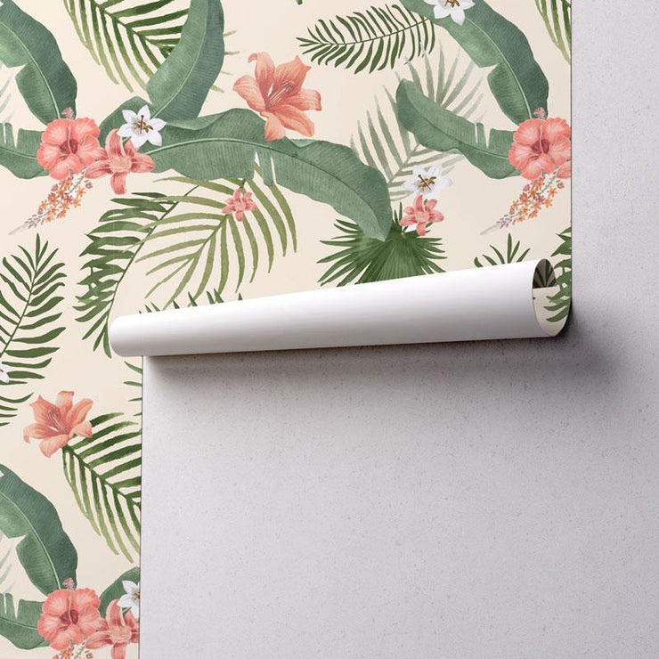 Tropical Foliage Removable Wallpaper-wallpaper-Eazywallz