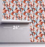 Tropical Vintage Flowers Removable Wallpaper-wallpaper-Eazywallz