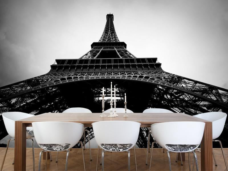 Elegant View Of The Eiffel Tower, France Wall Mural Part 31