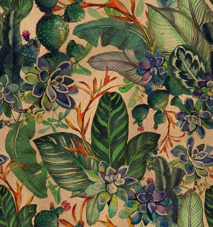Vintage Botanical Removable Wallpaper-wallpaper-Eazywallz