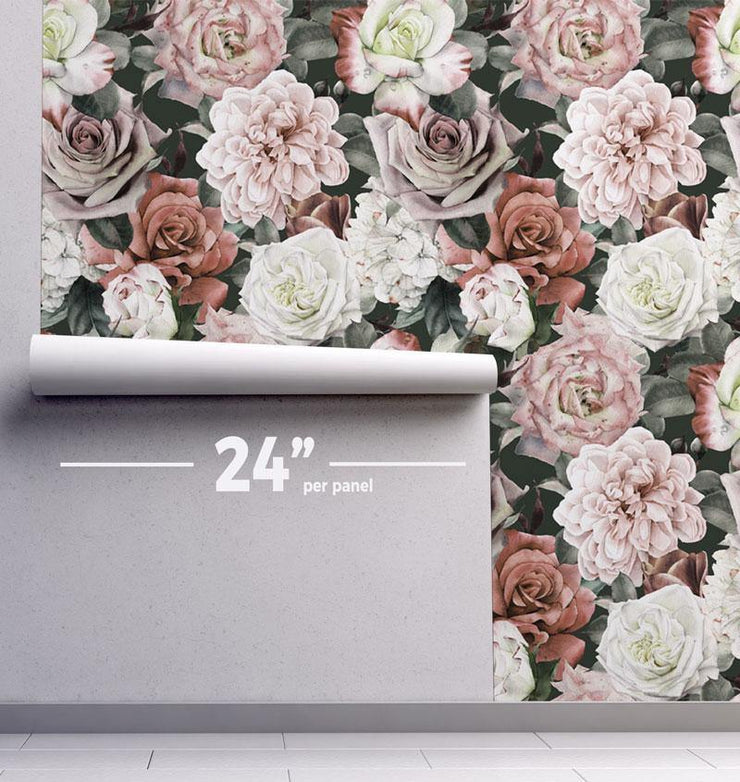 Vintage Floral Removable Wallpaper-wallpaper-Eazywallz