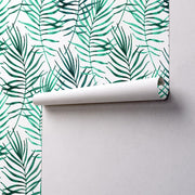 Water Color Palm Leaves Removable Wallpaper-wallpaper-Eazywallz