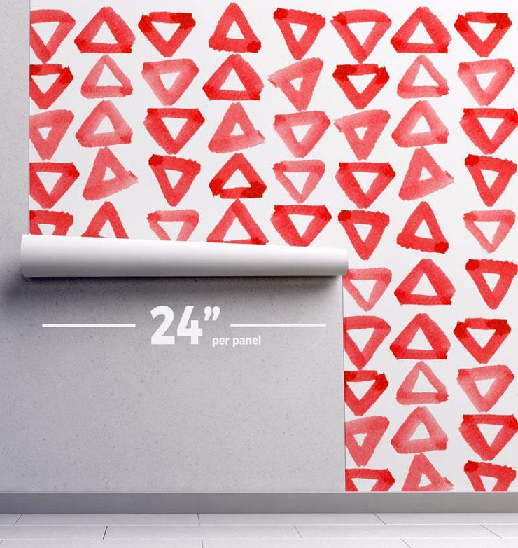 Water Color Triangles Removable Wallpaper-wallpaper-Eazywallz