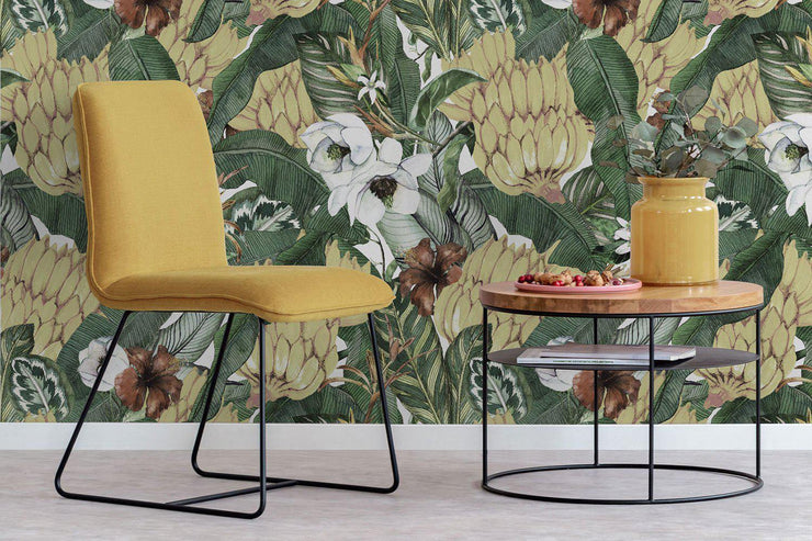 Water Colour Bananas Removable Wallpaper-Wall Mural-Eazywallz