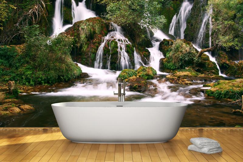 Waterfalls Wall Mural-Landscapes & Nature-Eazywallz