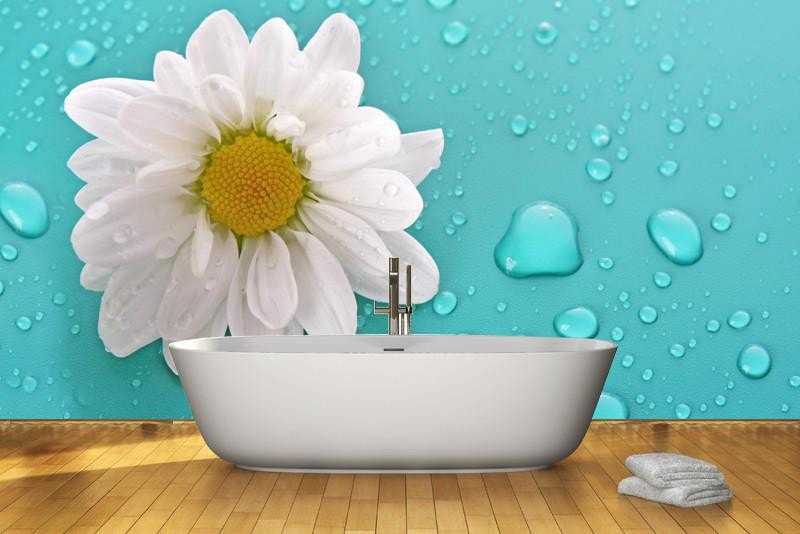 White camomile Wall Mural-Florals,Featured Category of the Month-Eazywallz