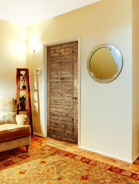 Wooden Planks Door Mural-Door Mural-Eazywallz