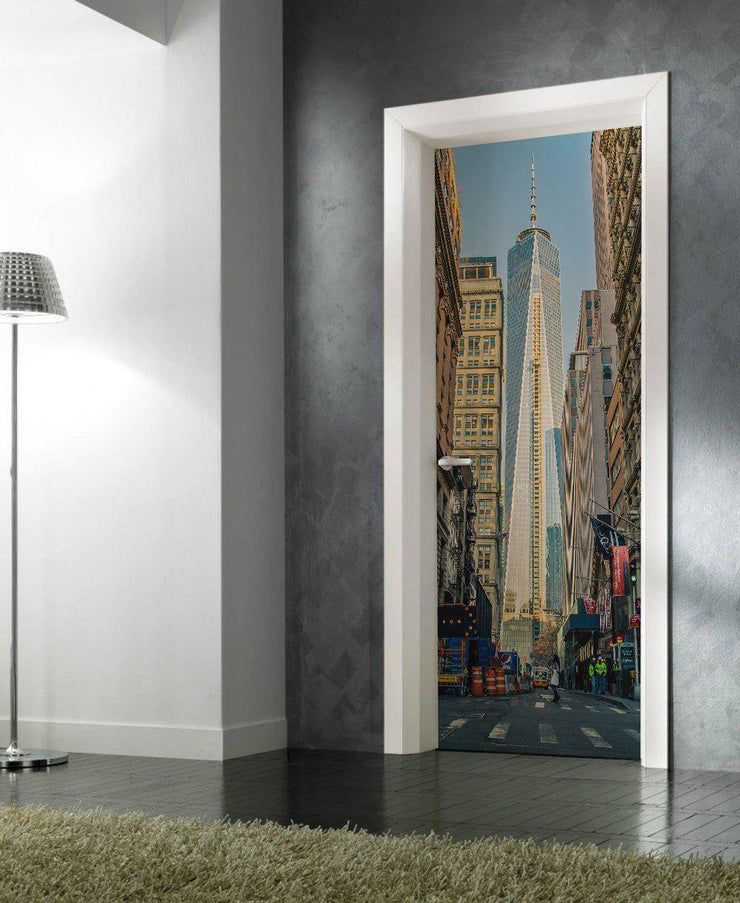 World Trade Center Door Mural-Buildings & Landmarks,Cityscapes-Eazywallz