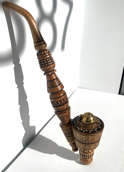 Carved Wooden Pipe (Hutsul)