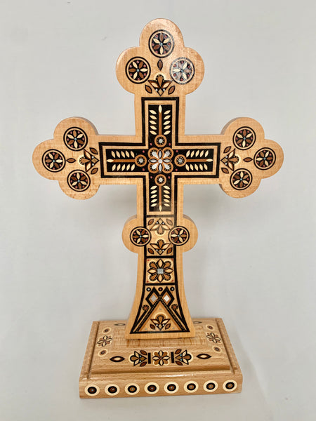 Handmade Wooden Inlaid Cross