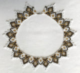 "White/Gold ""Zuby"" Gerdan Collar"