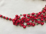Red-Black Wooden Seed Bead Necklace