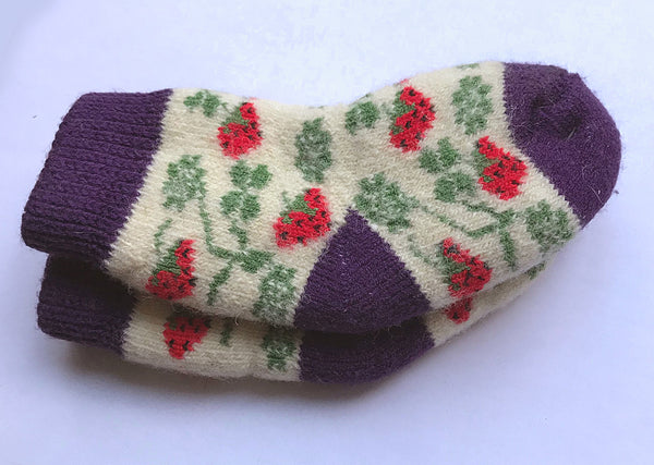 Toddlers Carpathian Wool Socks - Strawberry