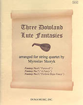 Three Dowland Lute Fantasies - For String Quartet
