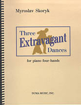 Three Extravagant Dances - for piano, four hands