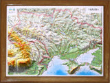 3-D Boxed Gift Map of Ukraine
