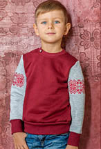 KIDS Embroidered Burgundy sweatshirt  - 122