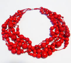 Red Wooden Hrona Necklace