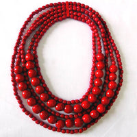 5-Strand Mixed Bead Necklace