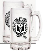 Beer Stein with Black Trident - Set of 2
