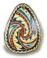 TRYPILLIAN WAVES Ostrich Egg PENDANT