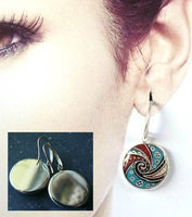 TRYPILIAN SWIRL DANGLE EARRINGS