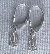 MINI TRYZUB EARRINGS IN SILVER