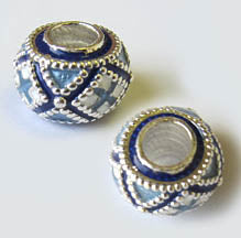 Sterling Silver Tire-Shaped Bead
