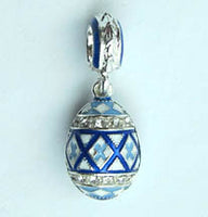 Blue Pysanka Dangle